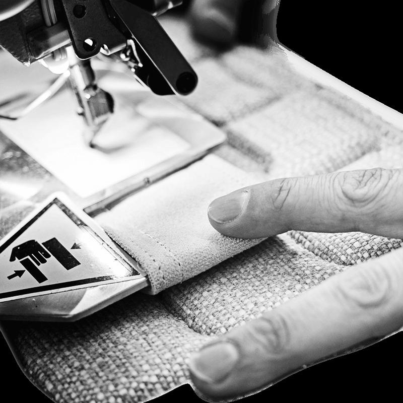 applicazione maniglie su fascia laterale materasso